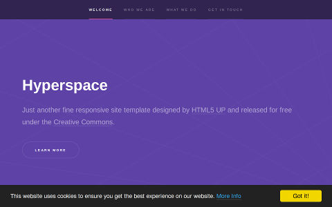 Portfolio GHKit Template Hyperspace