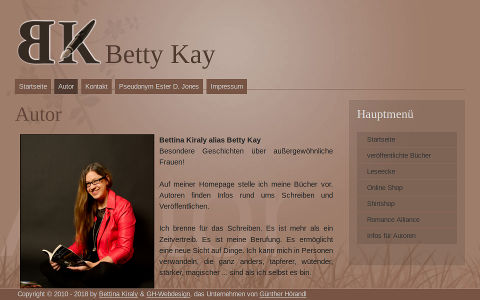 Portfolio Joomla Homepage betty-kay.at
